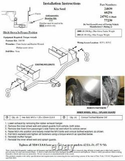 Trailer Tow Hitch For 10-13 KIA Soul 1-1/4 Receiver Class 1 with Draw Bar Kit