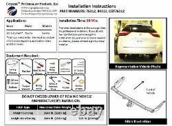 Trailer Tow Hitch For 11-14 Toyota Sienna (15-20 SE ONLY) with Wiring Harness Kit