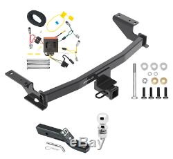 Trailer Tow Hitch For 13-16 Mazda CX-5 Complete Package with Wiring Kit & 2 Ball