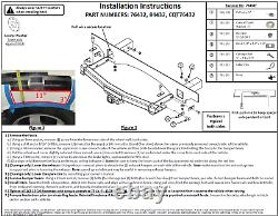 Trailer Tow Hitch For 14-21 Dodge Durango All Styles with Wiring Harness Kit