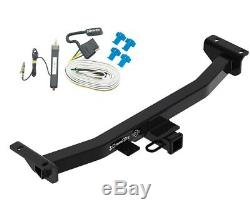 Trailer Tow Hitch For 19-20 Ford Ranger All Styles Receiver + Wiring Harness Kit