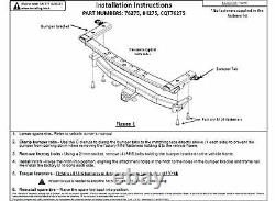 Trailer Tow Hitch For 19-20 Ford Ranger Complete Package with Wiring Kit & 2 Ball