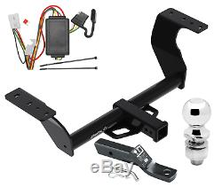 Trailer Tow Hitch For 19-20 Subaru Forester Complete Pkg with Wiring Kit & 2 Ball