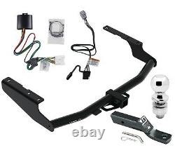 Trailer Tow Hitch For 20-21 Highlander Exc Dual Exhaust w Wiring Kit and 2 Ball