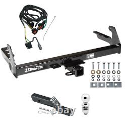 Trailer Tow Hitch For 2004 Dodge Dakota Complete Package with Wiring Kit & 2 Ball