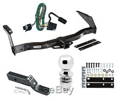 Trailer Tow Hitch For 93-98 Dodge Van B-Series Receiver + Wiring Kit & 2 Ball