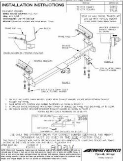 Trailer Tow Hitch For 97-01 Toyota Camry Receiver with Wiring Harness Kit