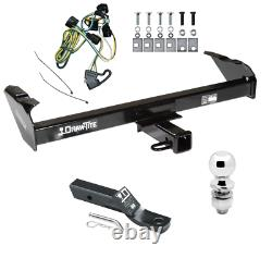 Trailer Tow Hitch For 97-03 Dodge Dakota Complete Package Wiring Kit & 2 Ball