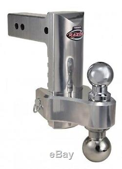 Trimax TRZ8ALHD 8 HD Adjustable Drop Hitch Kit with Dual Ball for 2.5 Receivers