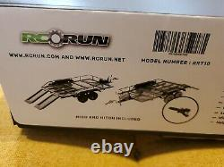 USA Stock! 1/10 Full Metal Trailer Kit for Axial SCX10 D90 RC Cars w Hitch